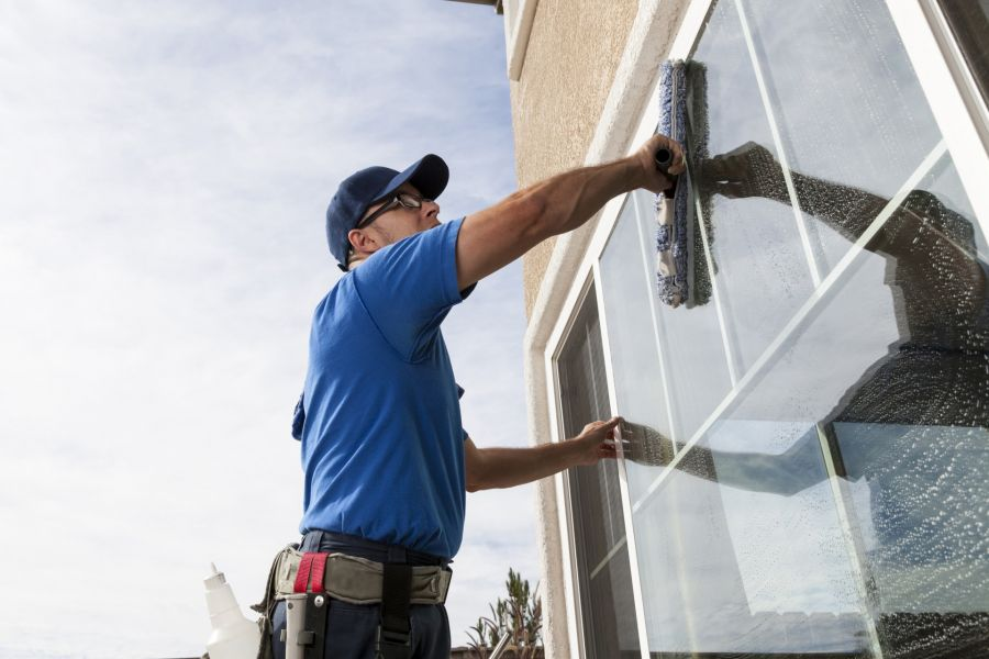 Commercial Window Cleaning by BlackHawk Janitorial Services LLC