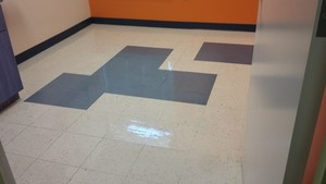 Floors stripping & waxing at a Pediatric Center in Dallas, GA